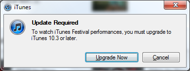 itunes upgrade required